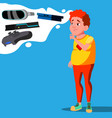 teenager dreaming of video game gadgets vector image