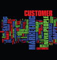 the branded customer experience we never say no vector image vector image