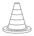 Traffic safety cone icon outline style vector image vector image