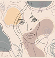 trend background lines woman face 10 vector image vector image