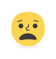 trendy malign emoji smile eps10 vector image vector image
