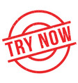 try now rubber stamp vector image vector image
