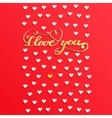 Valentines day concept with heart vector image