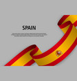 waving ribbon with flag vector image