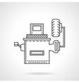 Wheel alignment equipment flat line icon vector image vector image