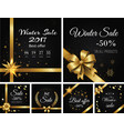 winter sale 2017 and best offer on all products vector image vector image