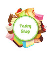 for pastry shop or vector image