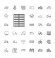 33 deliver icons vector image vector image