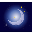 A white crescent in the sky vector image vector image