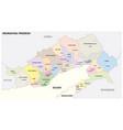 administrative map arunachal pradesh india vector image vector image