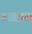 anime manga girl christmas character animation kit vector image vector image