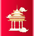 asian architecture building in asian style icon vector image vector image