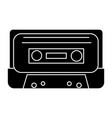 audio tape icon black sign vector image vector image