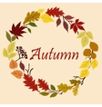 Autumnal yellow red orange and green leaves vector image