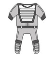 baseball catcher uniform icon vector image