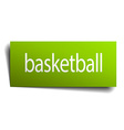 basketball green paper sign on white background vector image vector image