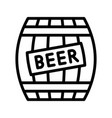 beer barrel feast of saint patrick line icon vector image vector image