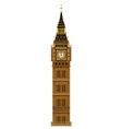 Big Ben Isolated vector image vector image