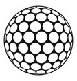 black and white golf ball icon simple style vector image vector image