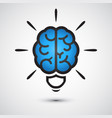 brain light bulb icon idea concept vector image vector image