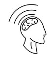 brain storming icon outline style vector image