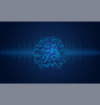 brain wave vector image