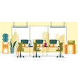 business office interior with panoramic window vector image