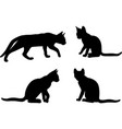 cat silhouettes set - artwork vector image