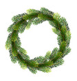 christmas wreath from fir tree branches vector image vector image