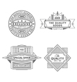 collection retro outline vintage style labels vector image vector image