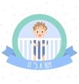 cute baboy little bain bacot vector image