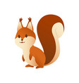 cute cartoon squirrel sweet friendly animal vector image vector image