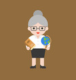 cute character back to school theme old history vector image
