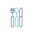 Cutlery linear icon concept cutlery line
