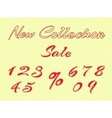 embroidered words and numbers for retail vector image vector image