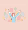 fun success celebration holiday joy concept vector image