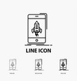game gaming start mobile phone icon in thin vector image