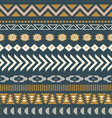 geometric aztec blue seamless pattern texture vector image vector image