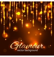 Glamour gold background Glamorous background vector image vector image