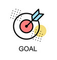 goal icon for business on white background vector image vector image