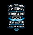 grandpa t shirts design graphic typography vector image