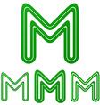 Green line m logo design set vector image vector image