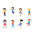 happy school multiracial children vector image