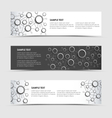 Horizontal banners with network connection design vector image vector image