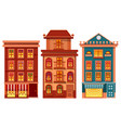 houses town city estate and buildings set vector image vector image