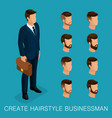 isometric businessmen vector image vector image