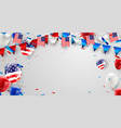 labor day card design american flag balloons with vector image vector image