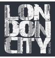 London city Typography design vector image
