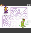 maze educational game with girl and boy vector image vector image