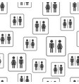 men and woman seamless pattern background vector image vector image
